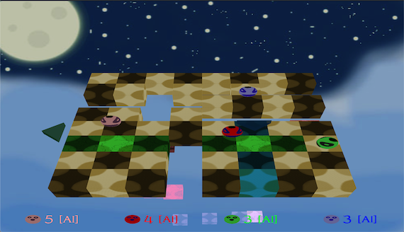 A screen-shot of Sky Checker's game-play