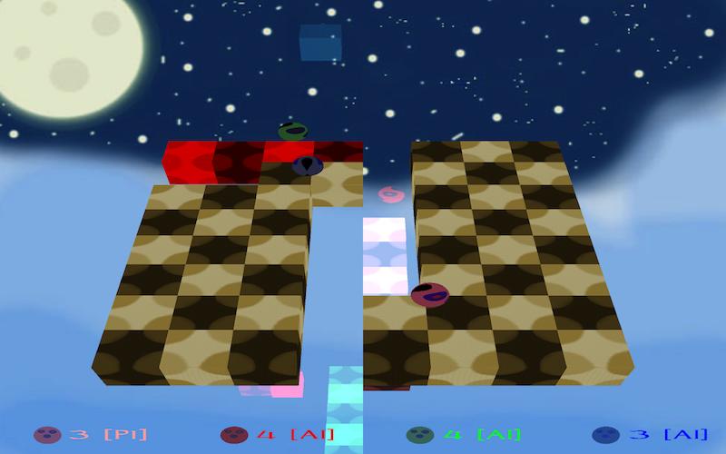 A screen-shot of SkyCheckers